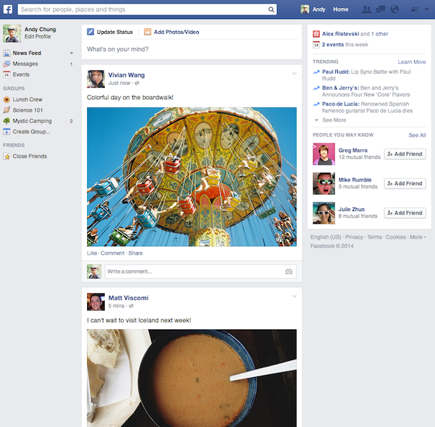 Facebook's New Look